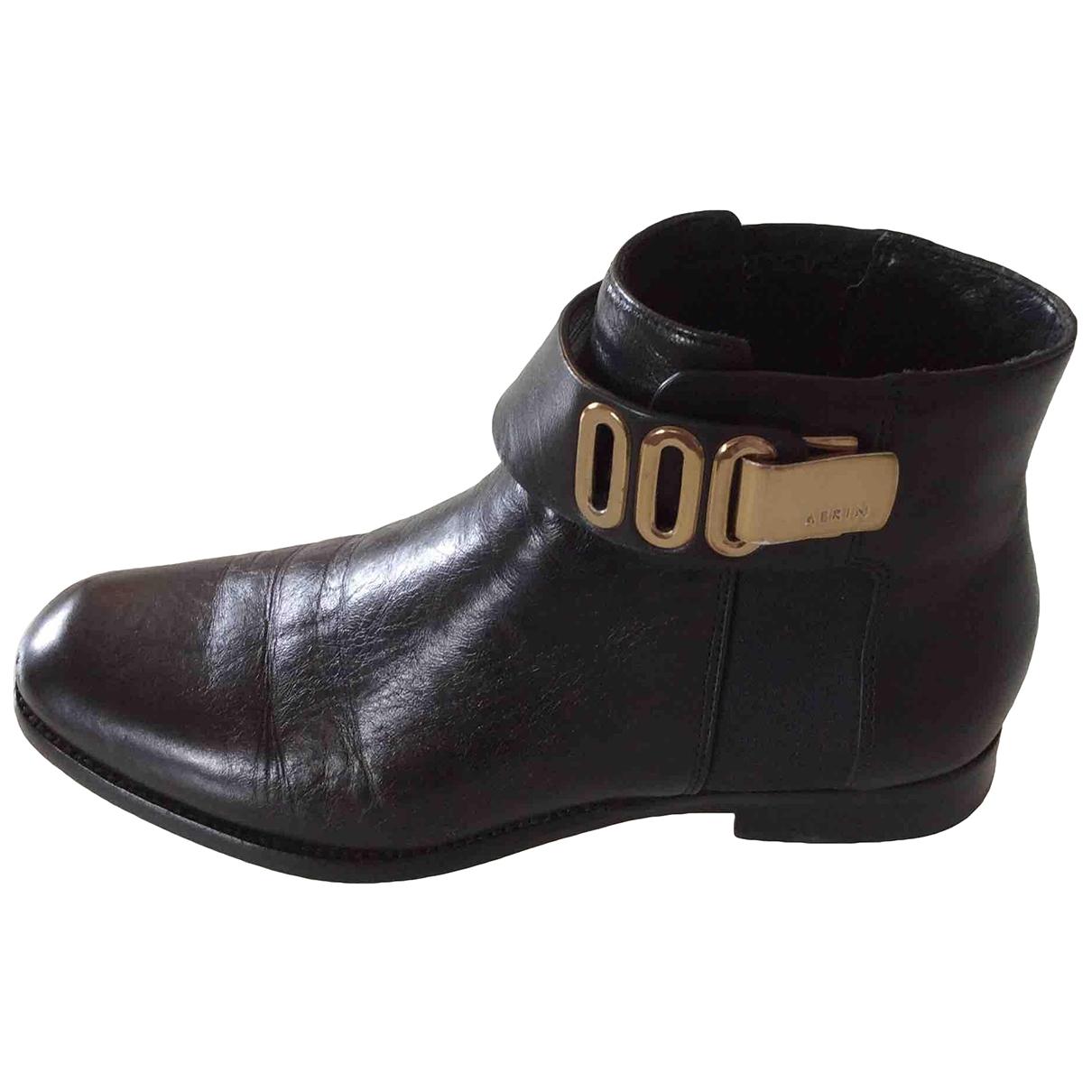 Aerin - Boots   pour femme en cuir - noir