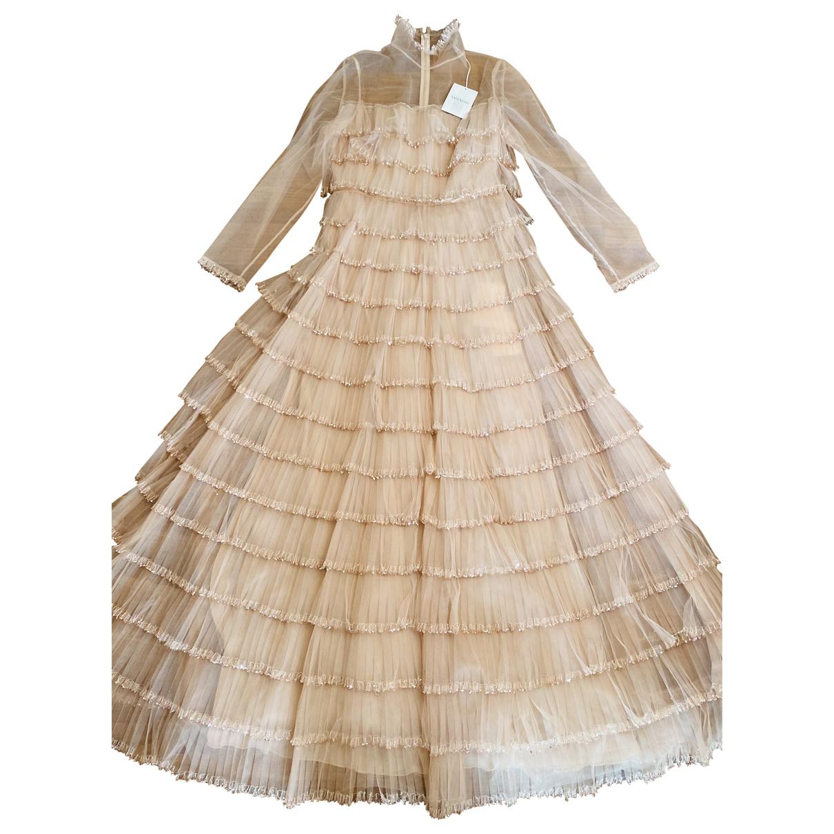 Valentino Garavani - Robe   pour femme en a paillettes - beige