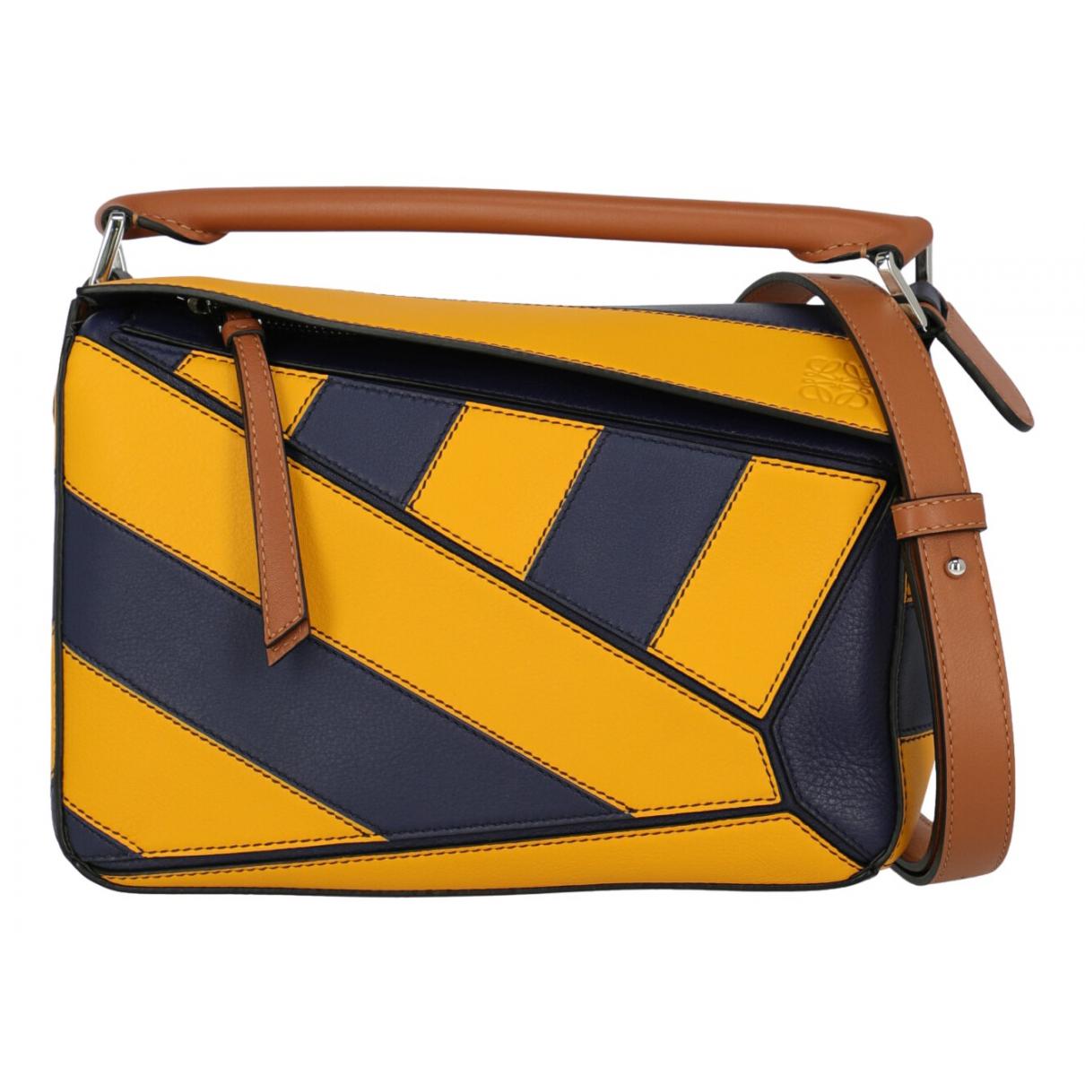 Loewe Puzzle  Handtasche in  Bunt Leder