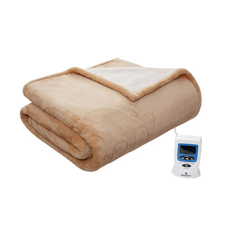Woolrich Heated Plush To Berber Heated Electric Blanket, One Size , Brown
