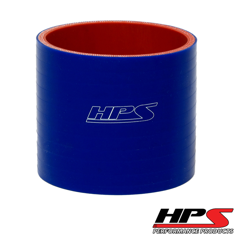HPS 2 3/8inch (60mm) 4-ply Reinforced Straight Coupler Silicone Hose Blue
