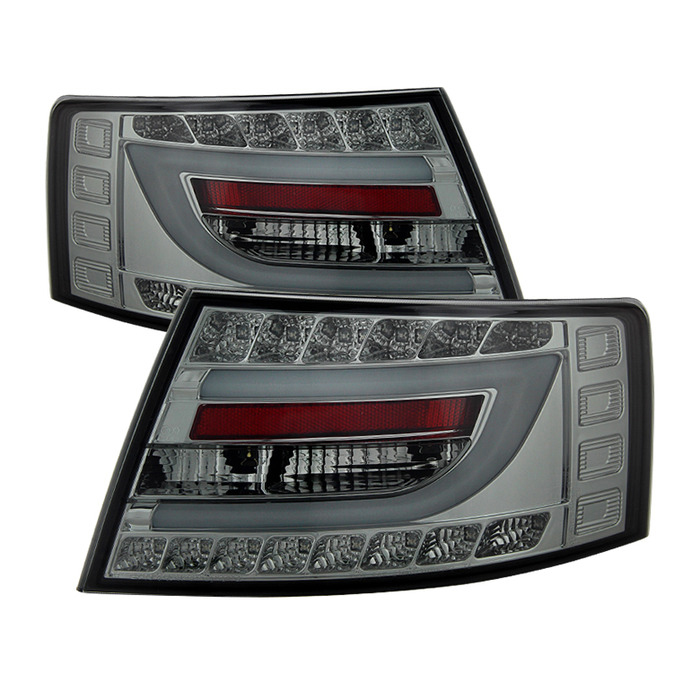 Spyder Auto ALT-YD-AA605V2-LBLED-SM Smoke Version 2 LED Taillights with Light Bar Audi A6 4Dr Non-Quattro 05-08