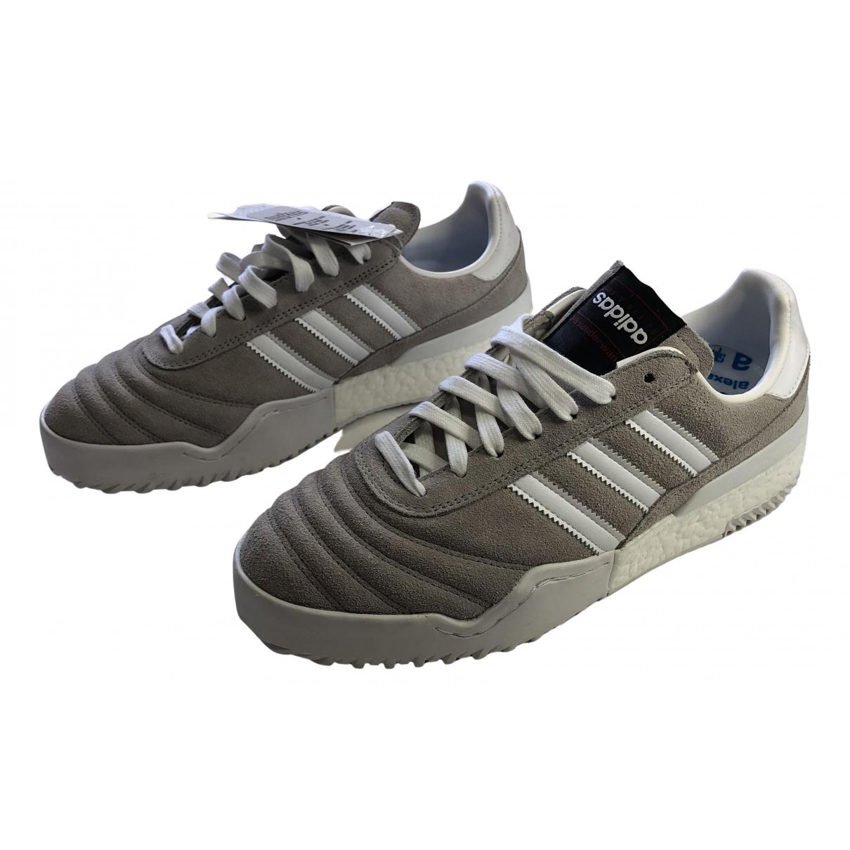 Adidas Originals X Alexander Wang - Baskets   pour homme en cuir - gris
