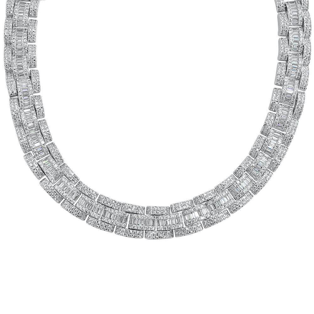 Baguette Oyster Bling Bling CZ Iced Out Chain