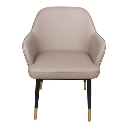 Berlin Collection UU-1019-39 Accent Chair with Metal Legs in Beige