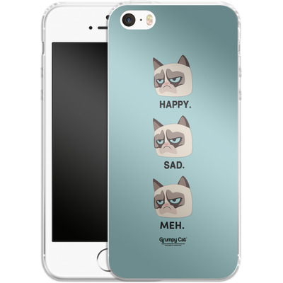 Apple iPhone 5 Silikon Handyhuelle - Facial Expressions von Grumpy Cat