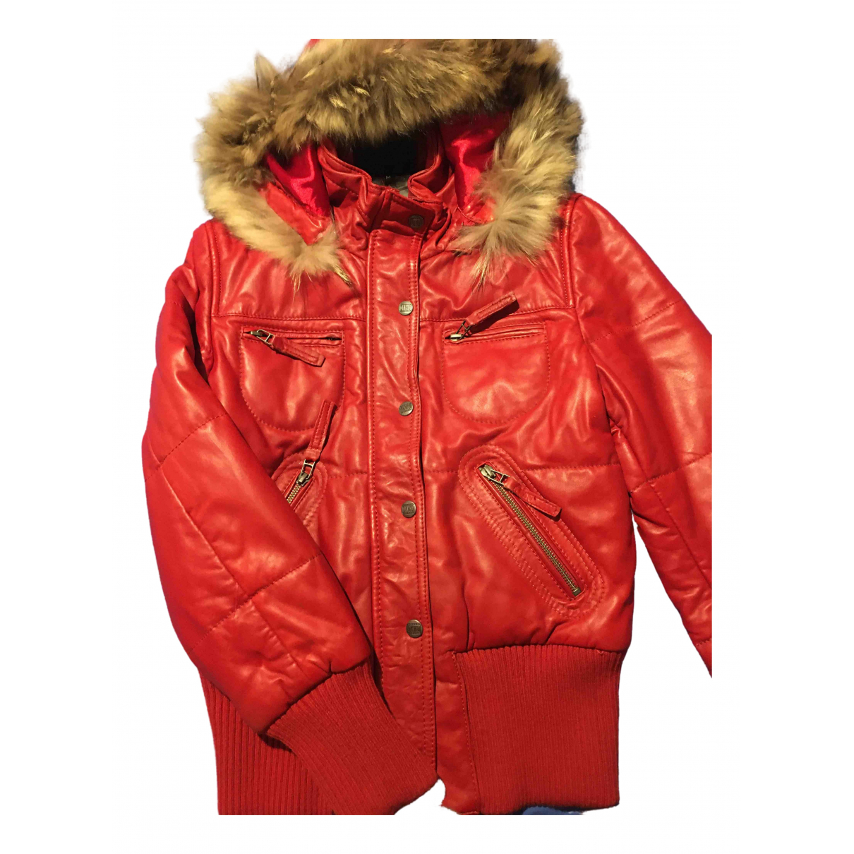 Oakwood \N Lederjacke in  Rot Leder