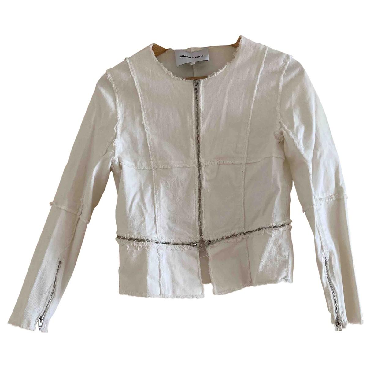 Bimba Y Lola - Veste   pour femme en denim - blanc