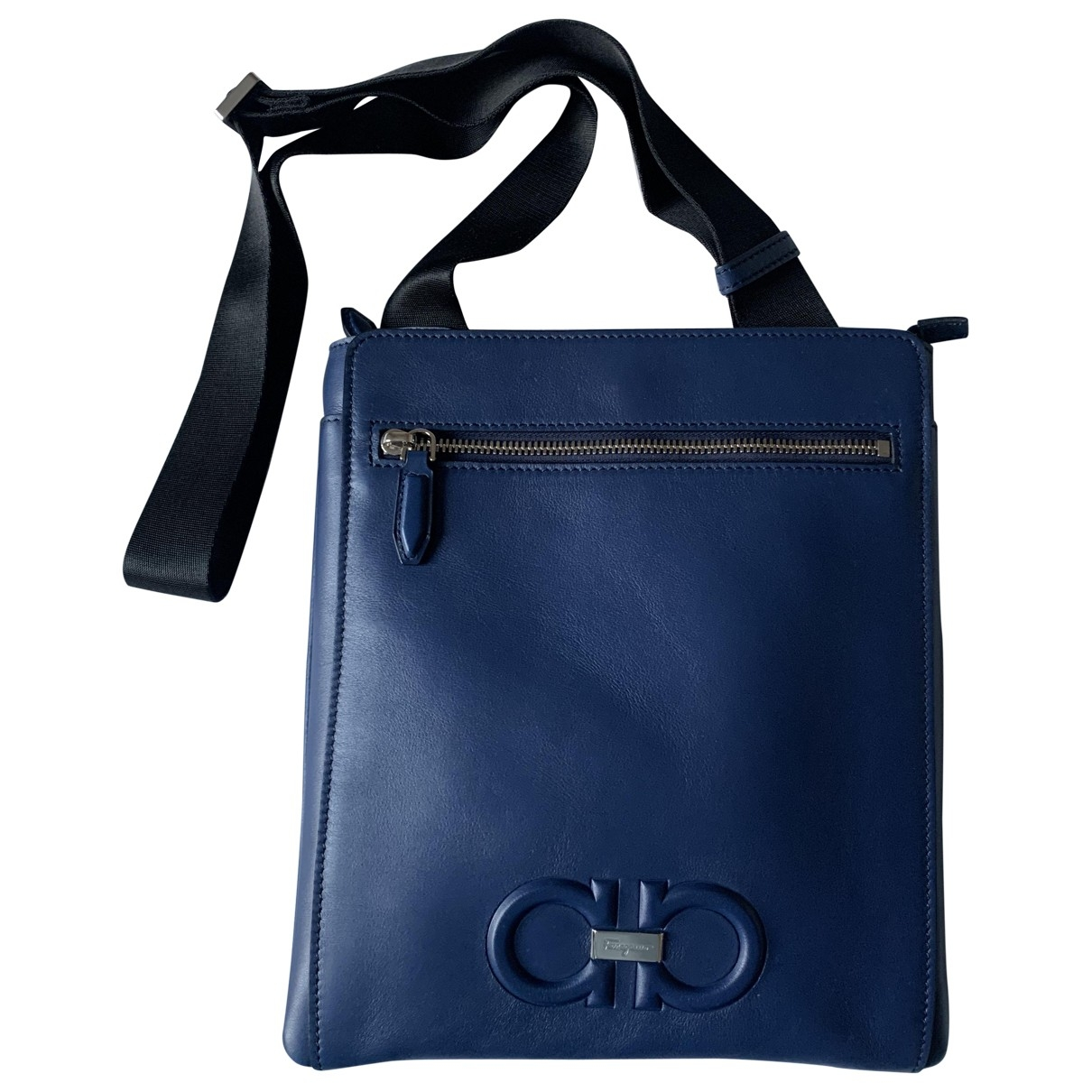 Salvatore Ferragamo \N Blue Leather bag for Men \N