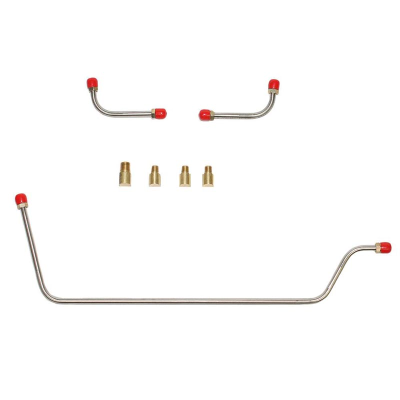 Fine Lines VPC5905SS Pump to Carburetor Fuel Line For 59-61 Chevrolet Corvette 283CID 8 Cylinder 2x4 BBL Carbs Pump to Carb Line 3 Line and 5 Fittings