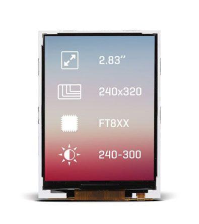 MikroElektronika MIKROE-2156 TFT LCD Colour Display, 2.83in, 240 x 320pixels