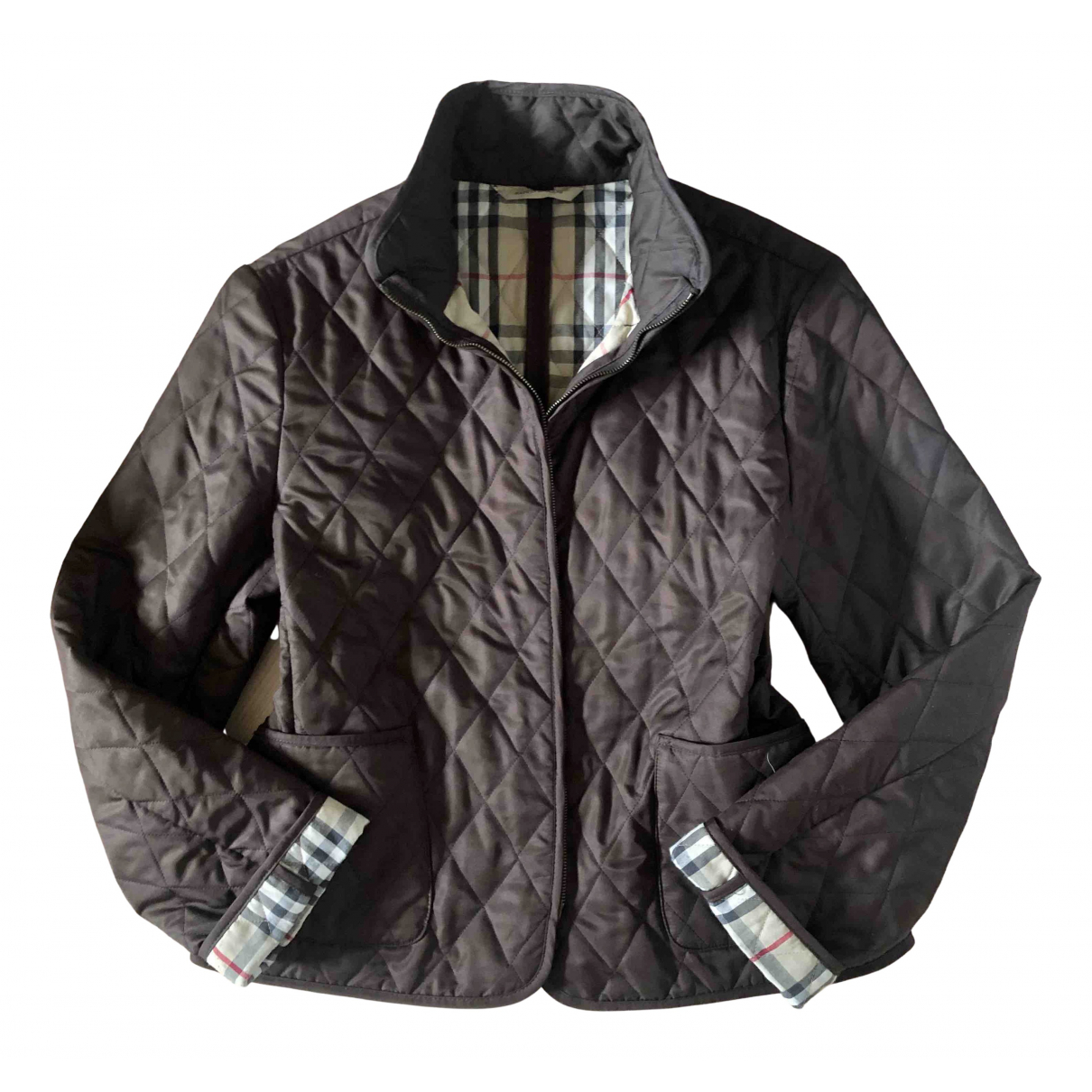 Burberry \N Jacke in  Braun Polyester