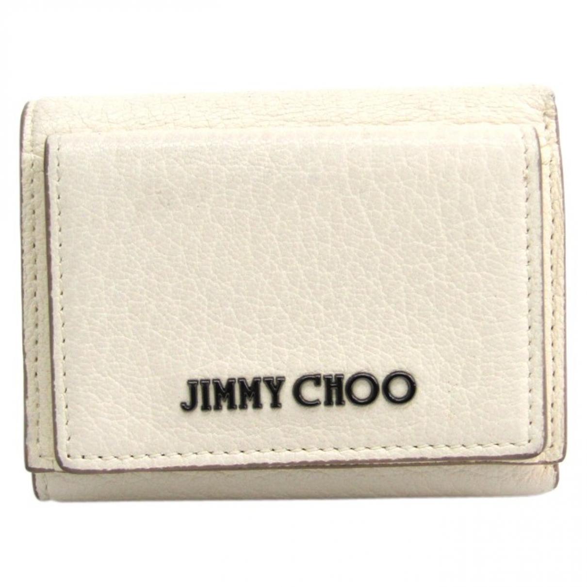 Jimmy Choo \N Portemonnaie in  Weiss Leder