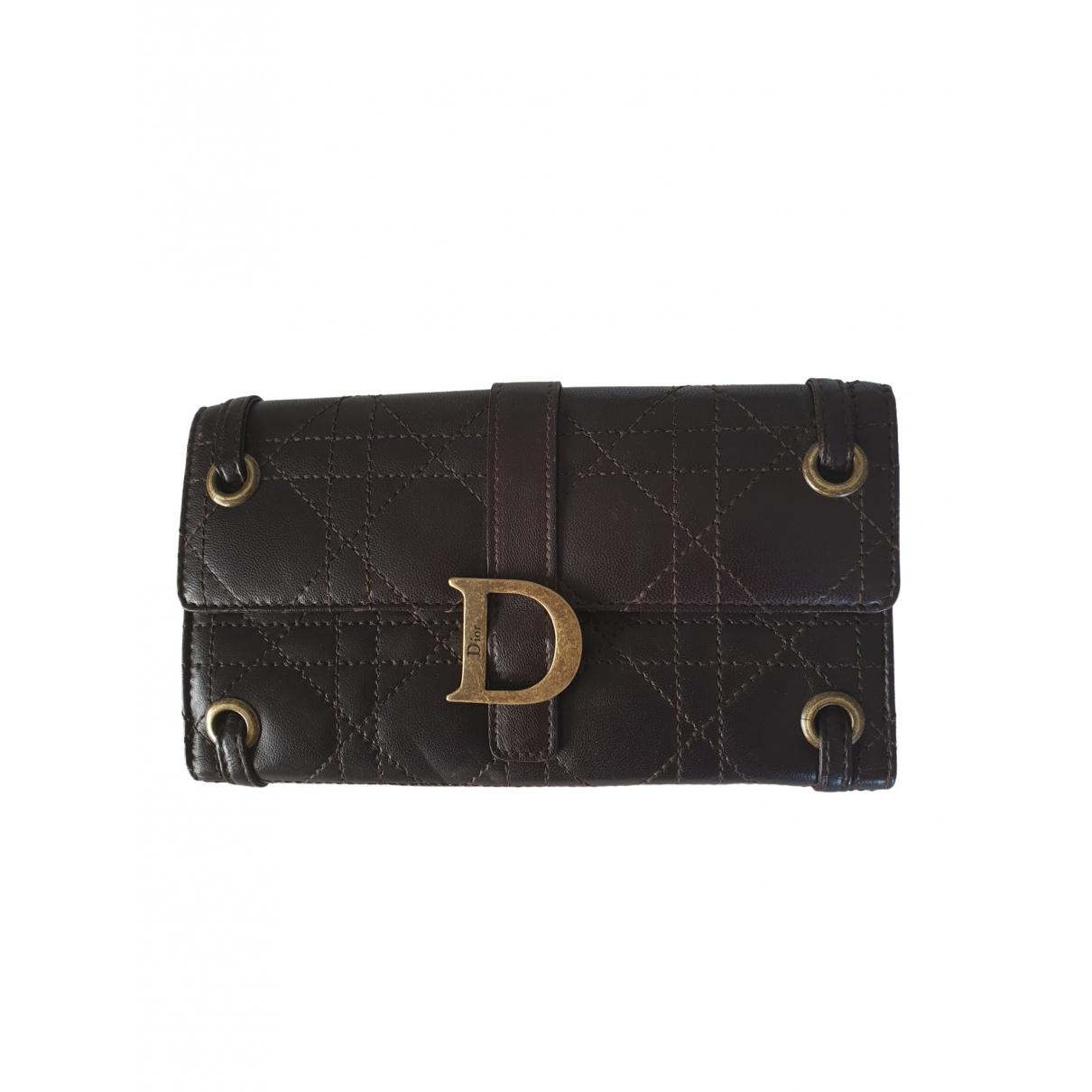 Dior \N Brown Leather wallet for Women \N
