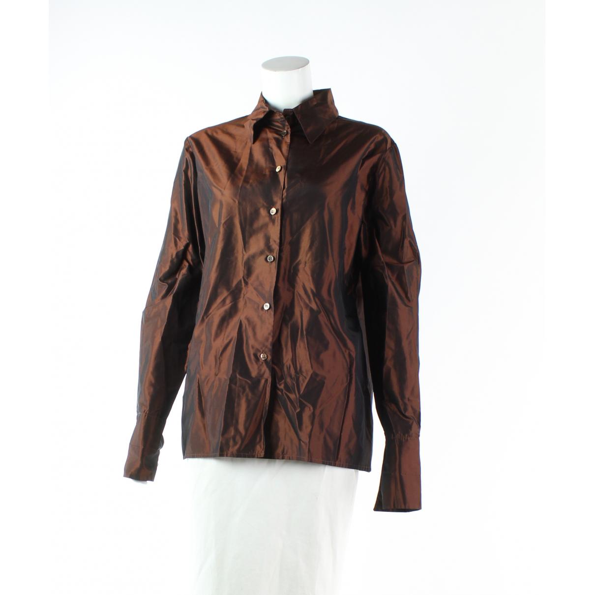 Etro - Top   pour femme en soie - metallise