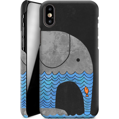 Apple iPhone X Smartphone Huelle - Thirsty Elephant von Terry Fan