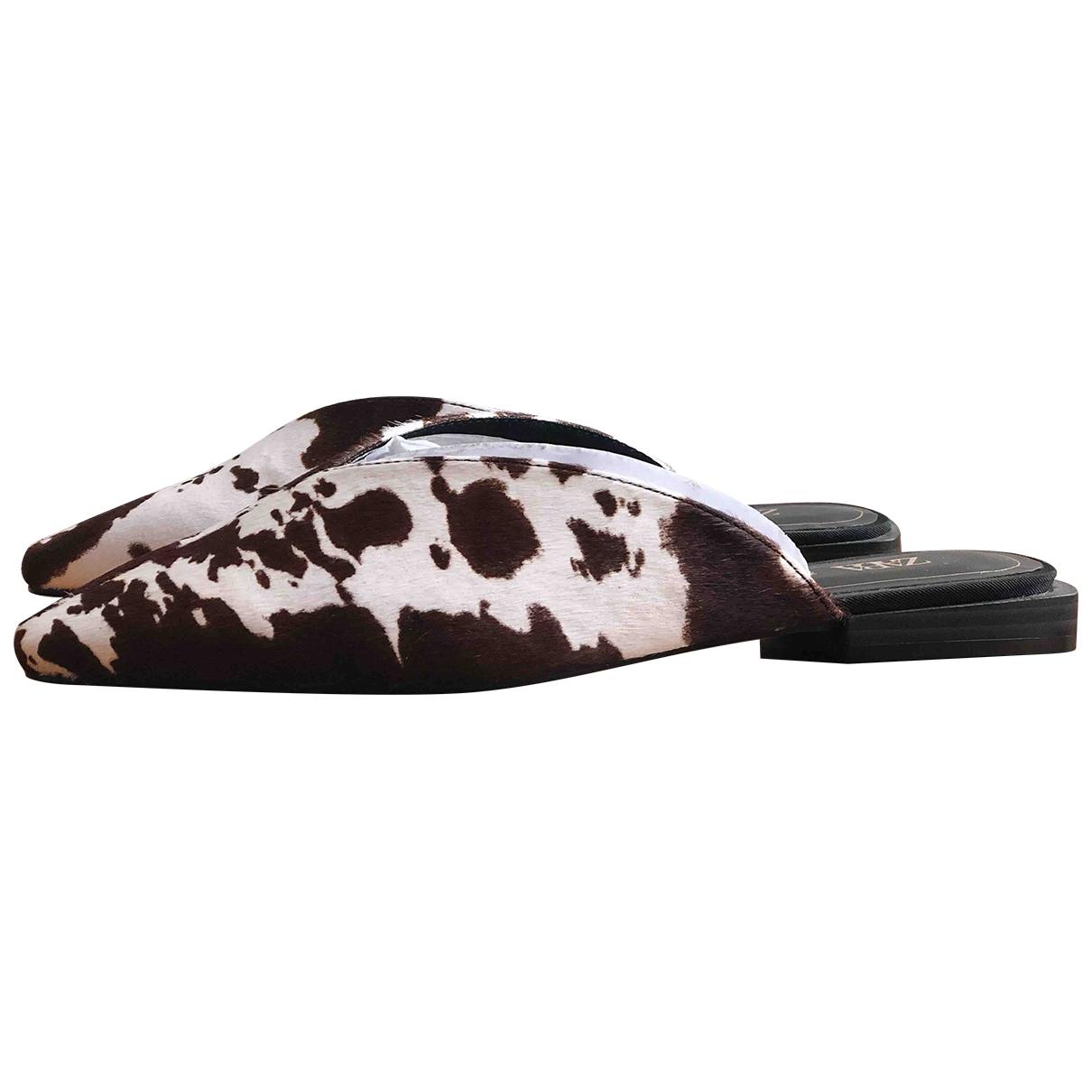 Zara \N Multicolour Leather Mules & Clogs for Women 38 EU