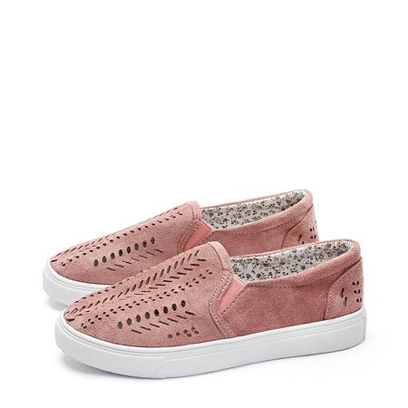 Yoins Pink Fashion Hollow Design Sneakers