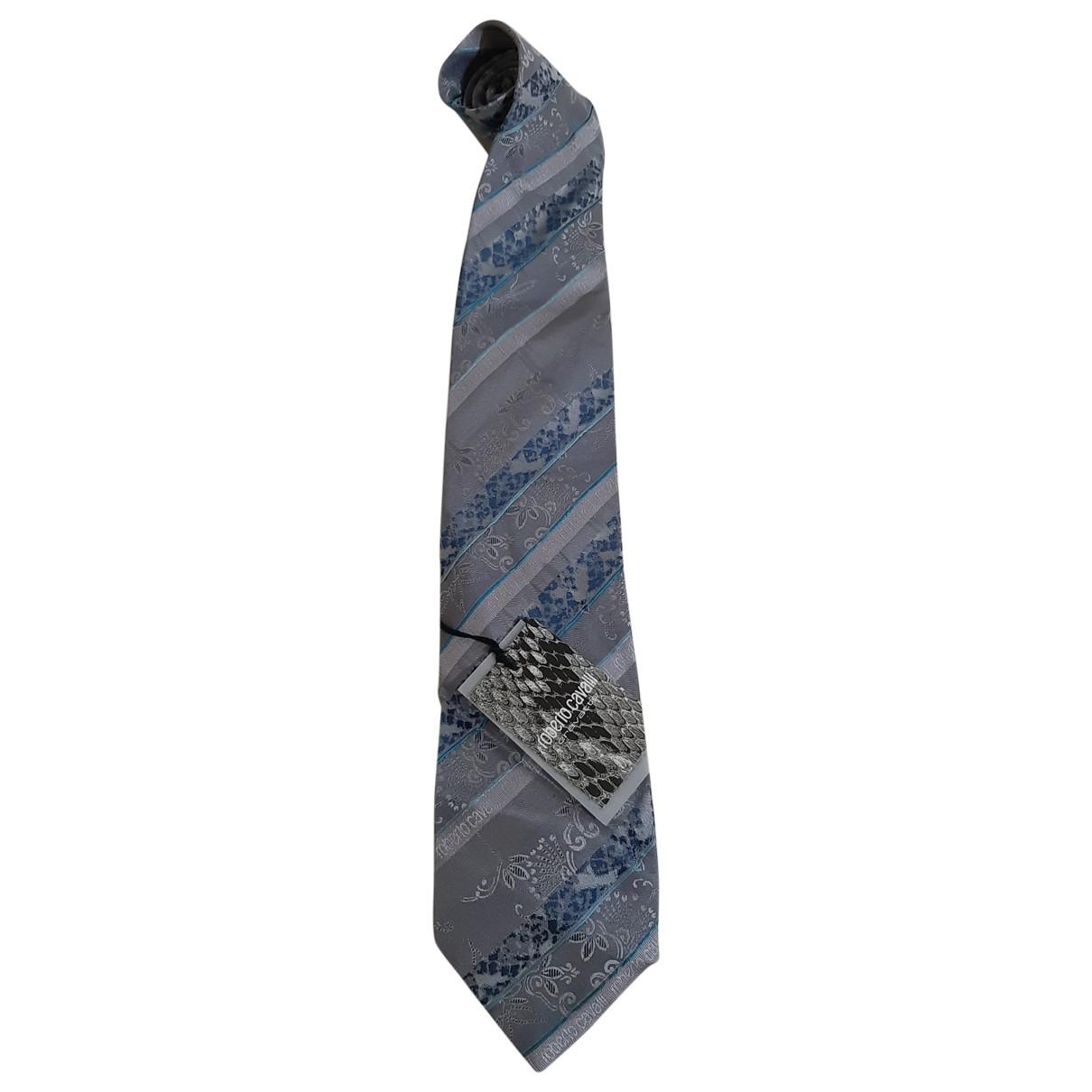 Roberto Cavalli \N Krawatten in  Grau Seide