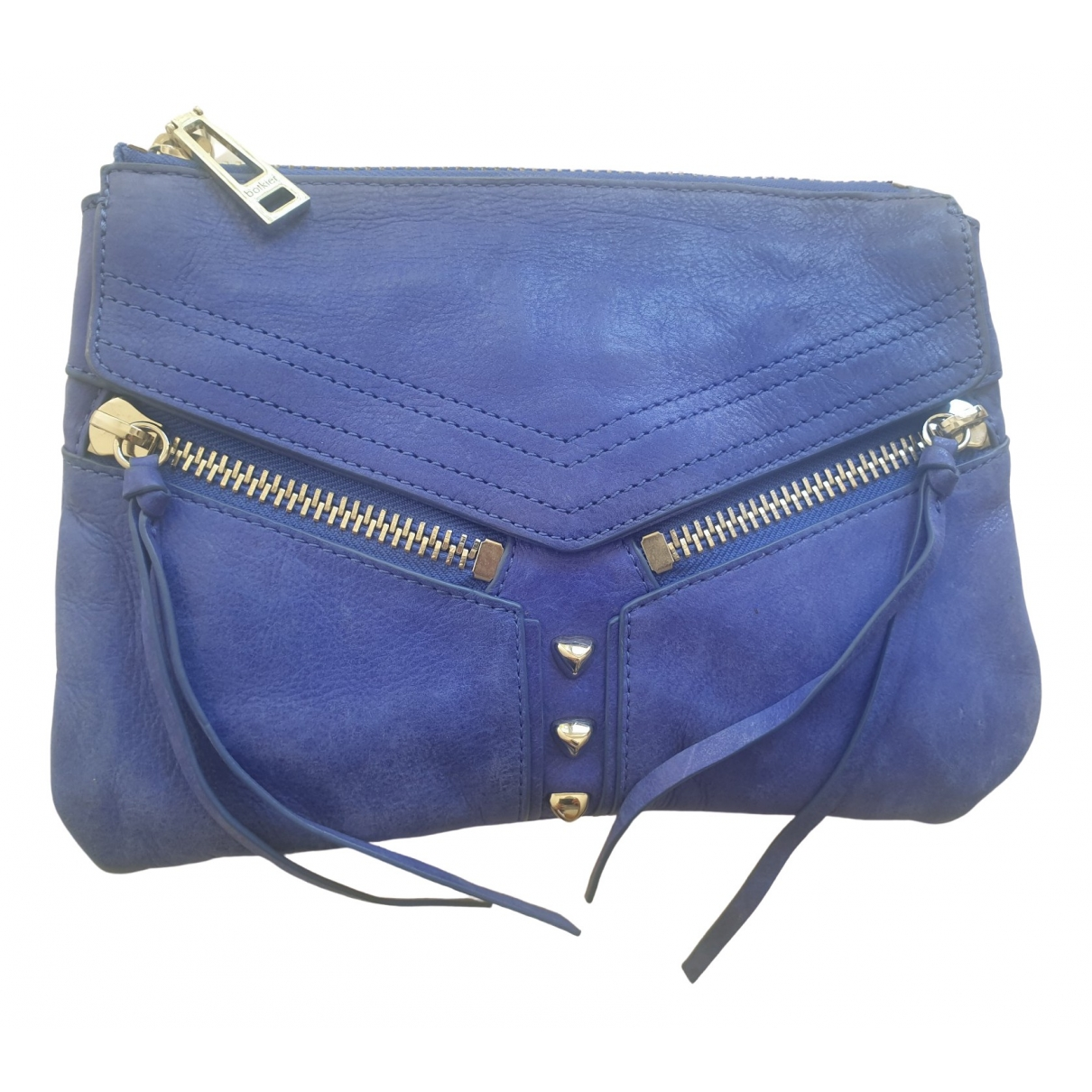 Botkier \N Clutch in  Blau Leder