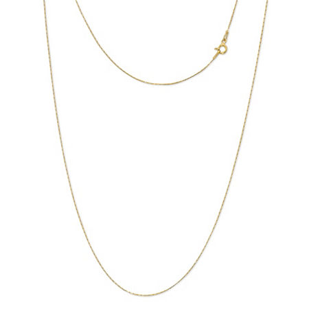 Made in Italy 24K Gold Over Silver Sterling Silver 24 Inch Solid Link Chain Necklace, One Size , No Color Family