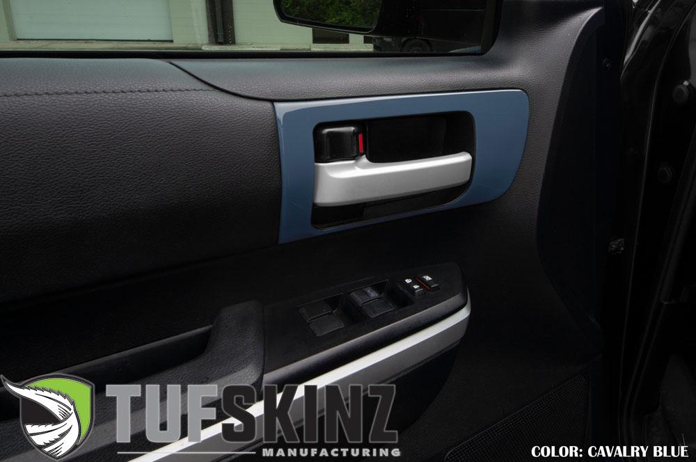 Tufskinz TUN028-CYB-G Front Door Handle Accent Trim Fits 14-up Toyota Tundra 2 Piece Kit Cavalry Blue
