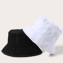 2pcs Men Simple Bucket Hat
