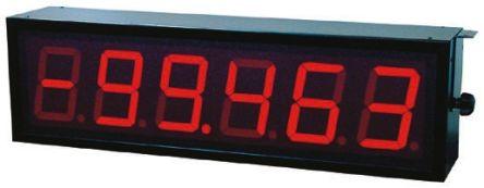 Baumer D060S.46S4A01  6 Digit 7-Segment LED Display, Red 1000 lx 57mm