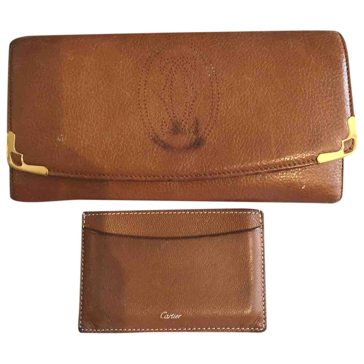 Cartier \N Brown Leather wallet for Women \N