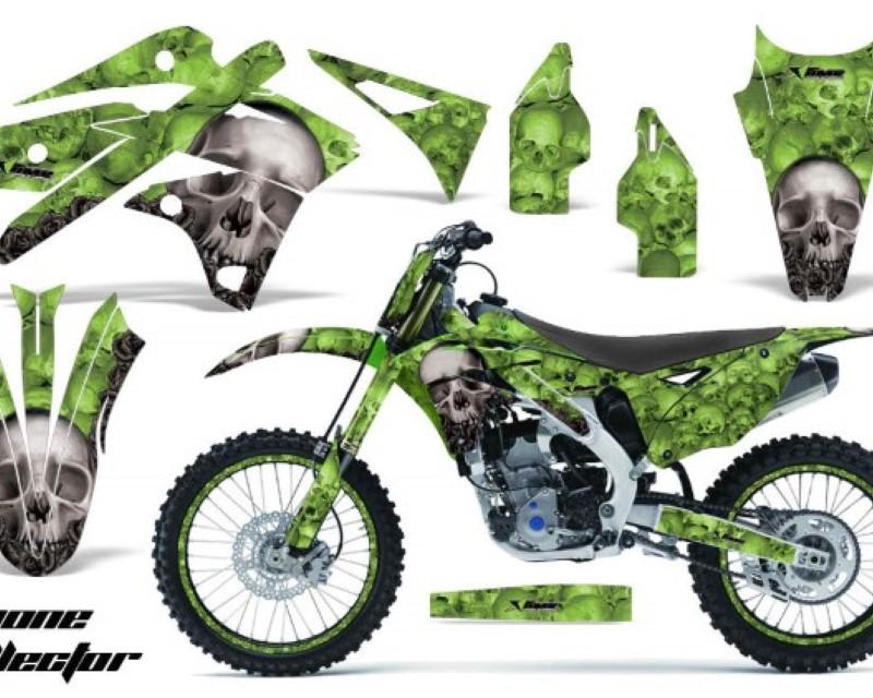 AMR Racing Graphics MX-NP-KAW-KX250F-13-16-BC G Kit Decal Sticker Wrap + # Plates For Kawasaki KXF250 2013-2016áBONES GREEN