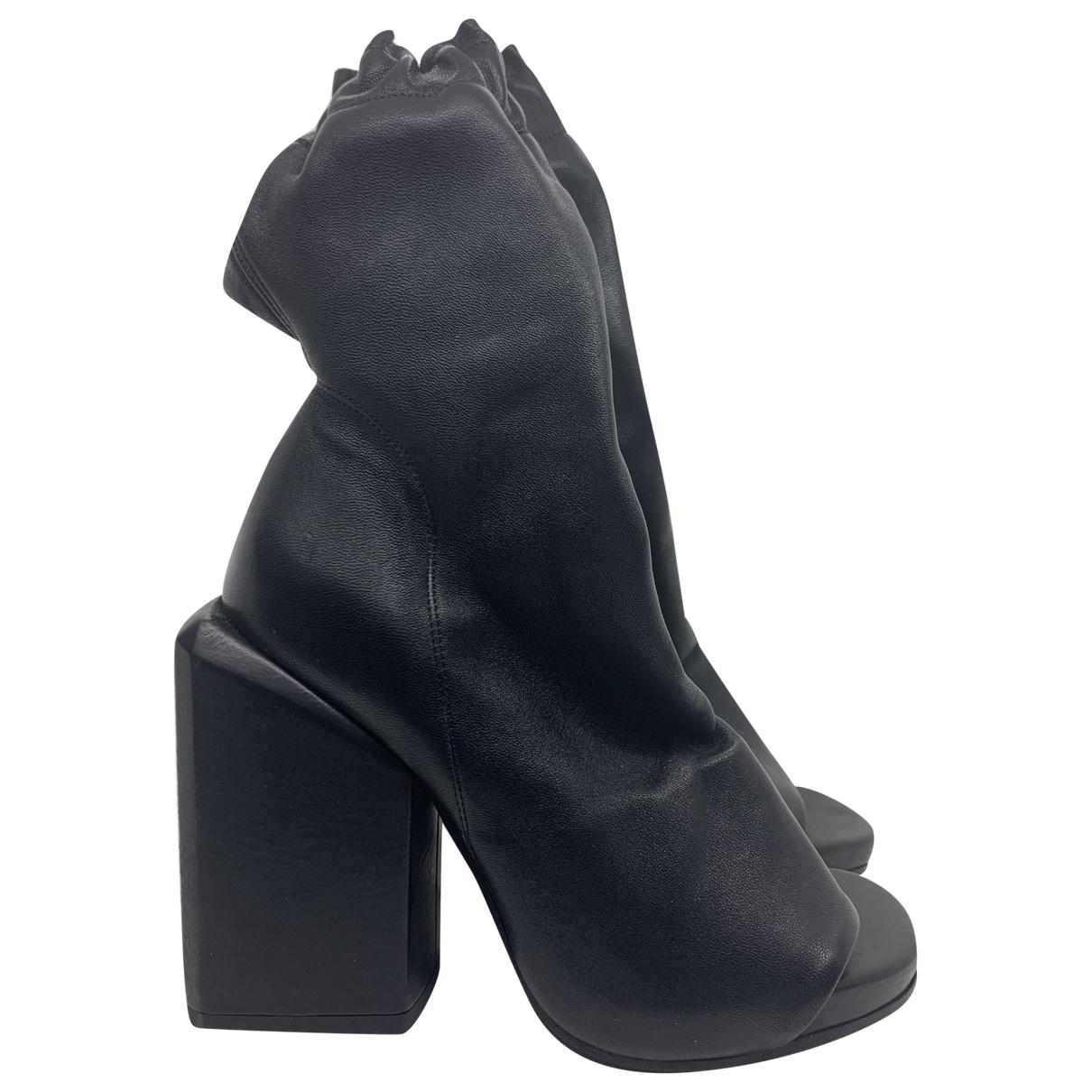 Cinzia Araia - Boots   pour femme en cuir - noir