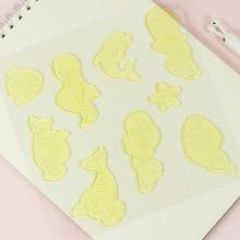 1 Blatt Leuchtender Aufkleber mit Karikatur Design