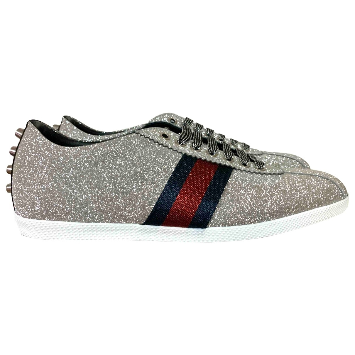 Gucci Falacer Silver Glitter Trainers for Women 40 IT