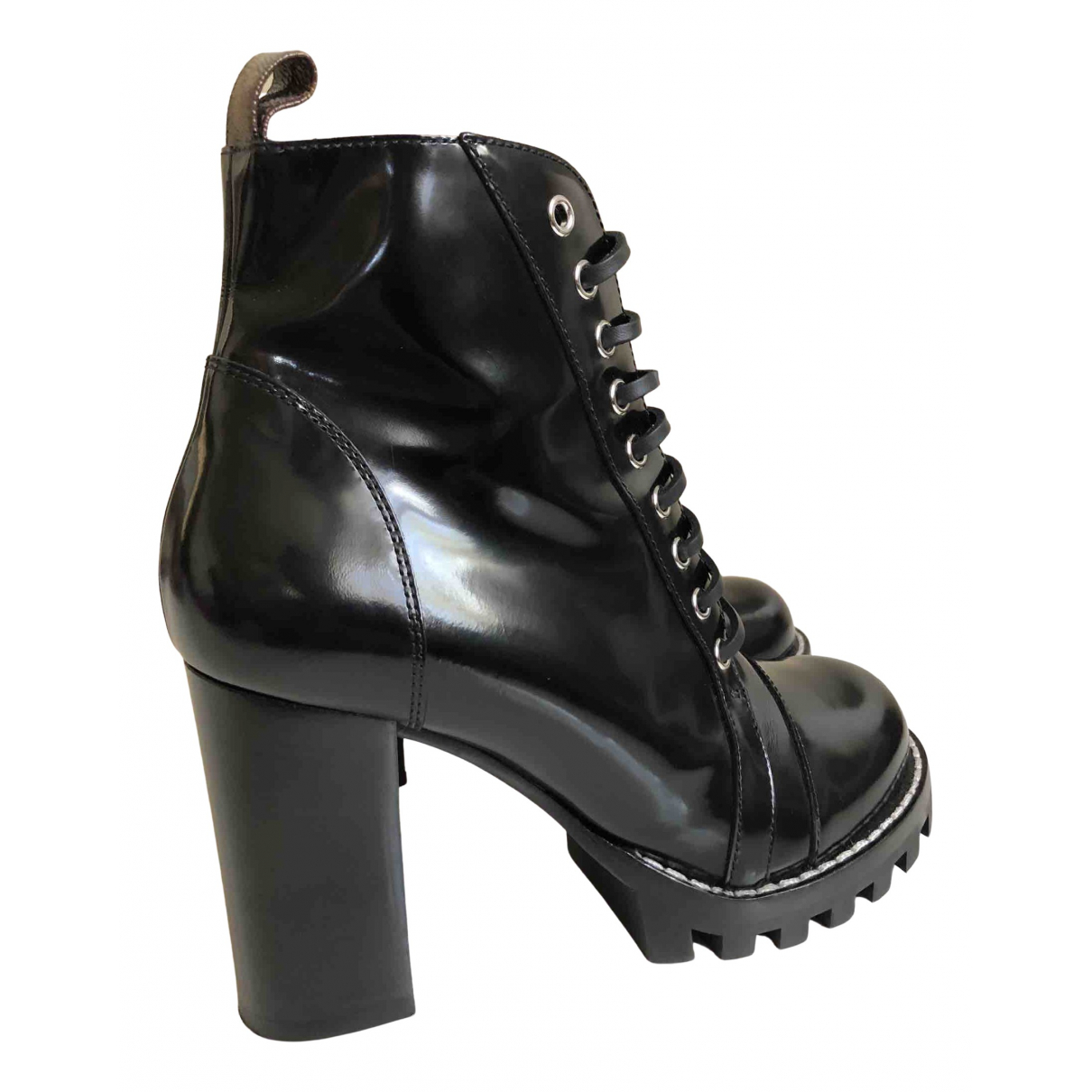 Louis Vuitton Star Trail Black Leather Ankle boots for Women 39 EU