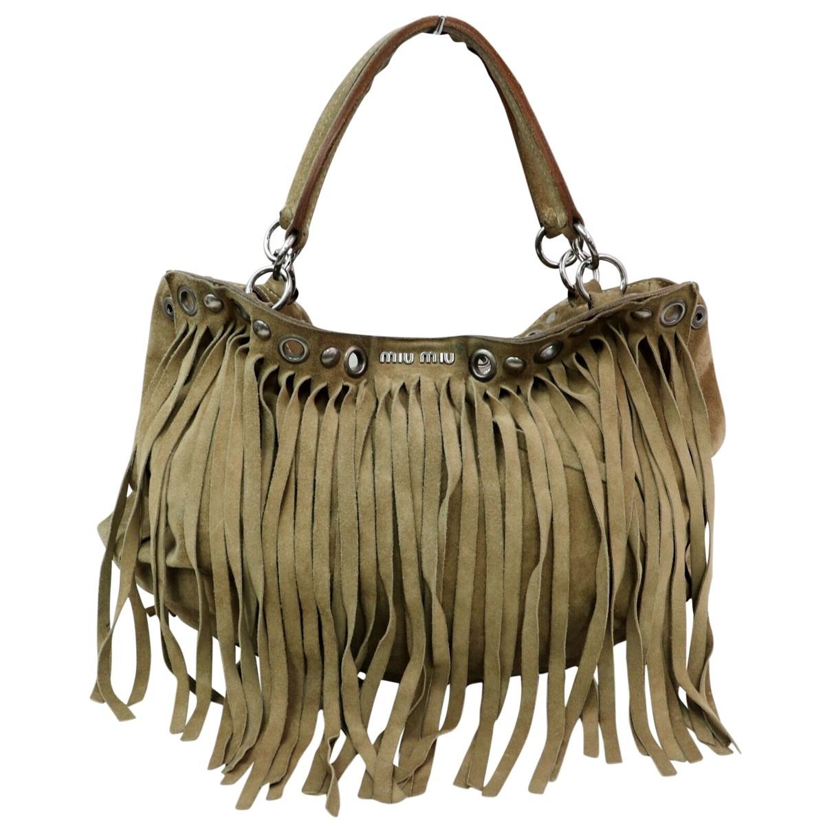 Miu Miu \N Brown Suede handbag for Women \N