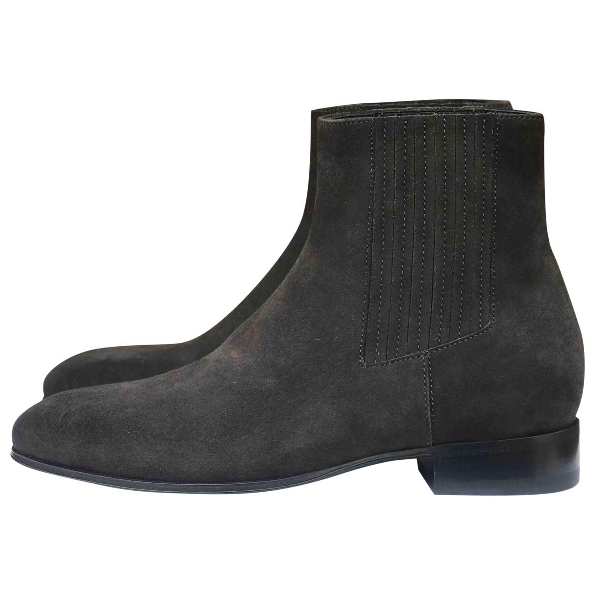 Balenciaga - Bottes.Boots   pour homme en suede - noir