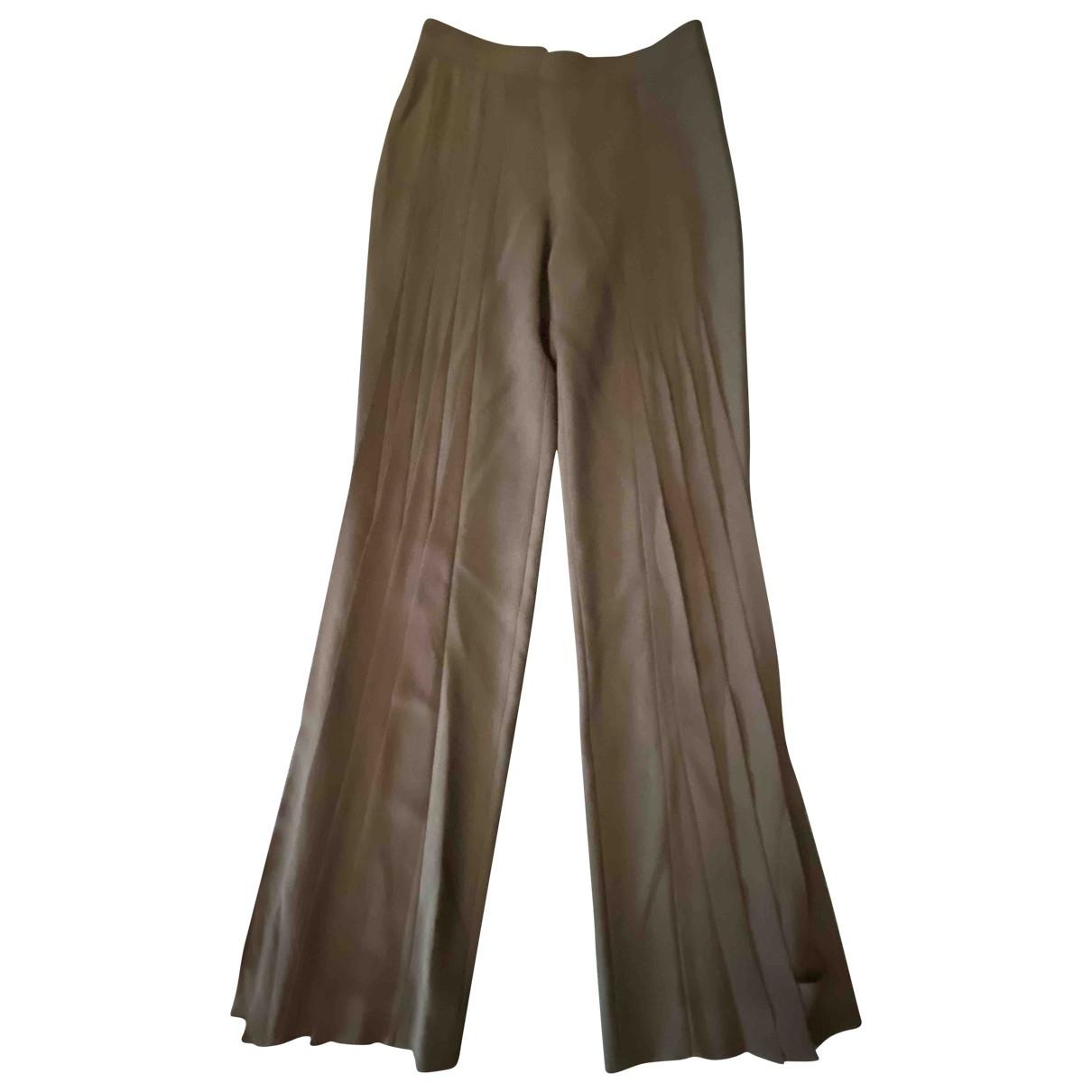 Jean-louis Scherrer \N Black Trousers for Women 38 FR