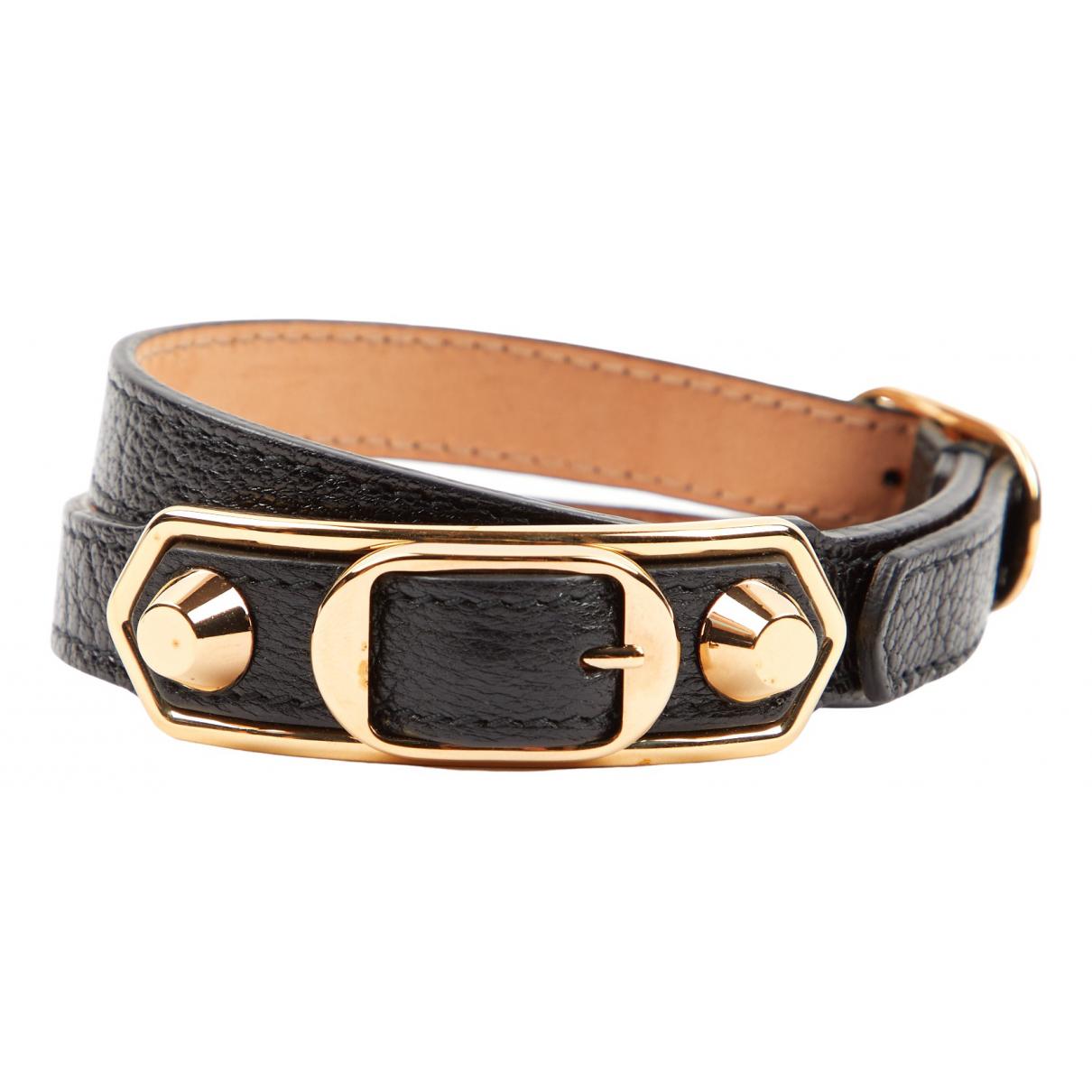Balenciaga N Black Leather bracelet for Women N