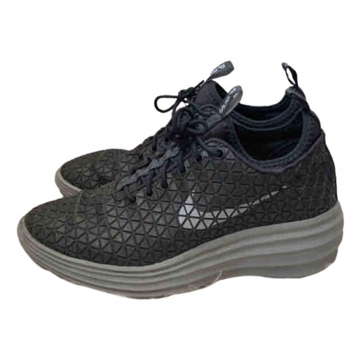 Nike - Baskets   pour femme en caoutchouc - anthracite