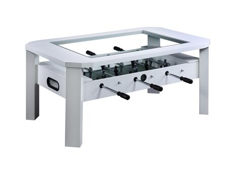 Cooper Collection CP100-WH Foosball Table with 6 Foosball Handles and One Ball Included in White