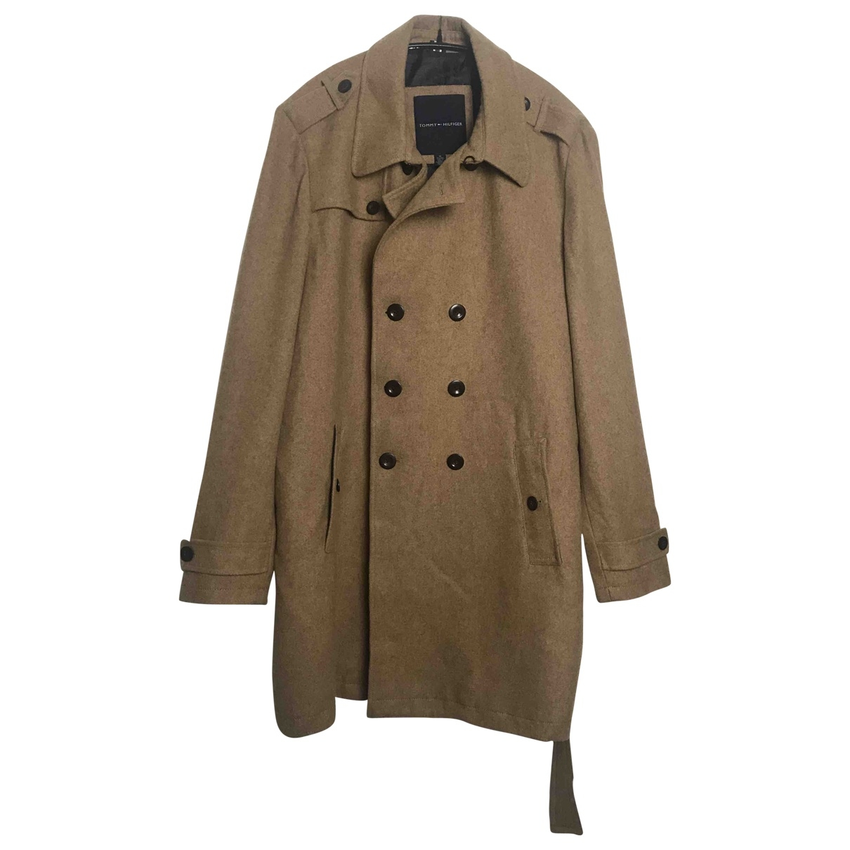 Tommy Hilfiger \N Beige Wool coat  for Men XL International