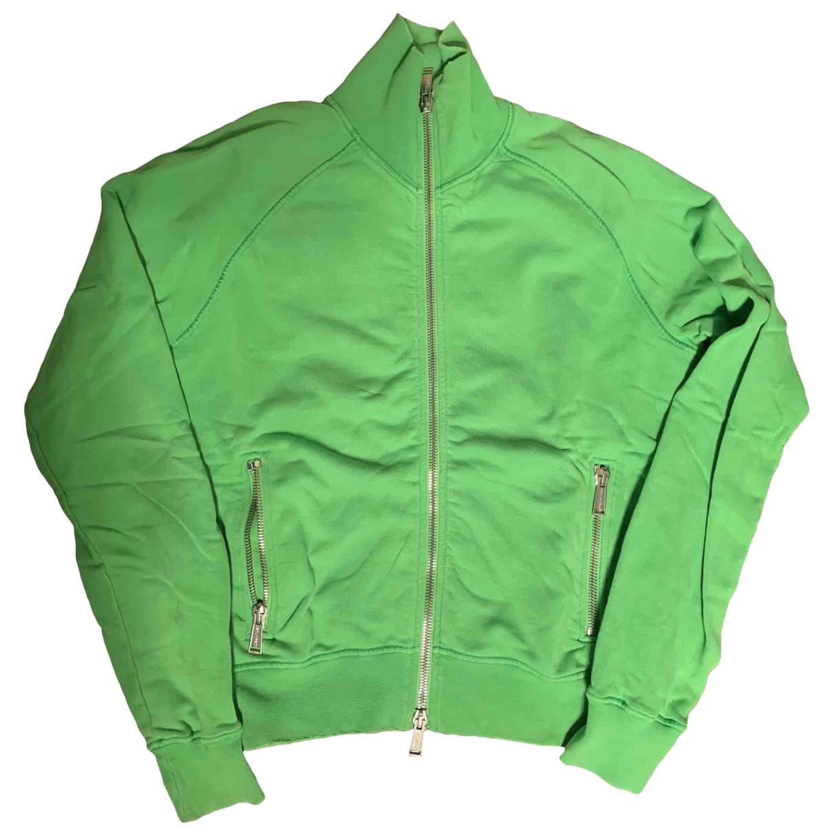 Dsquared2 \N Pullover.Westen.Sweatshirts  in  Gruen Baumwolle