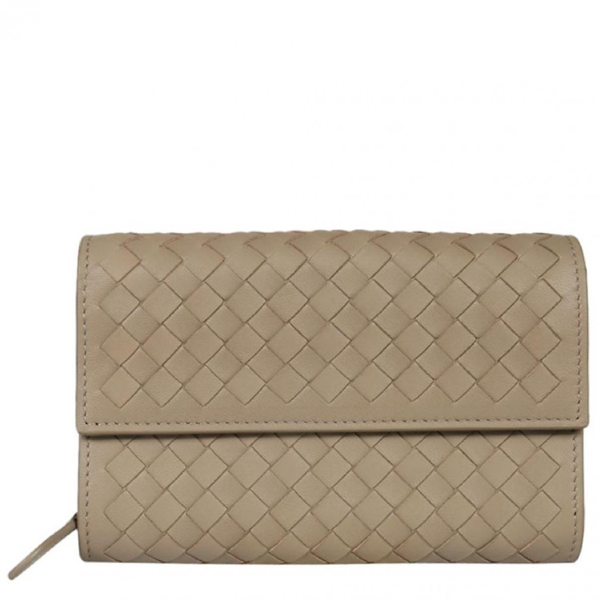 Bottega Veneta - Portefeuille   pour femme en cuir - gris