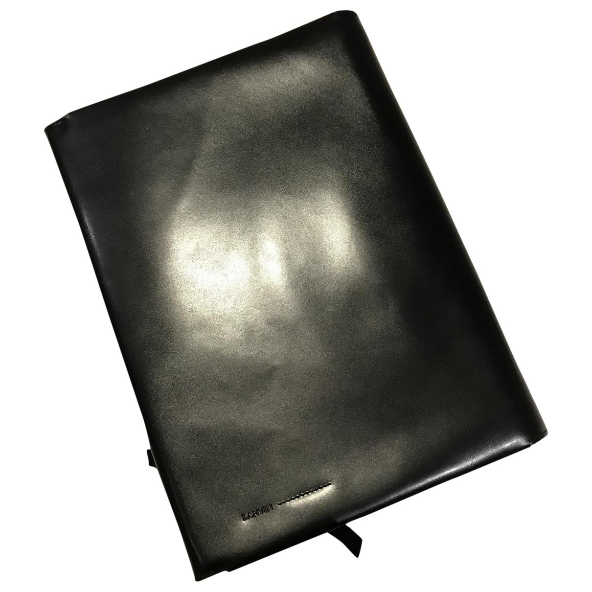 Lanvin \N Kleinlederwaren in  Schwarz Leder