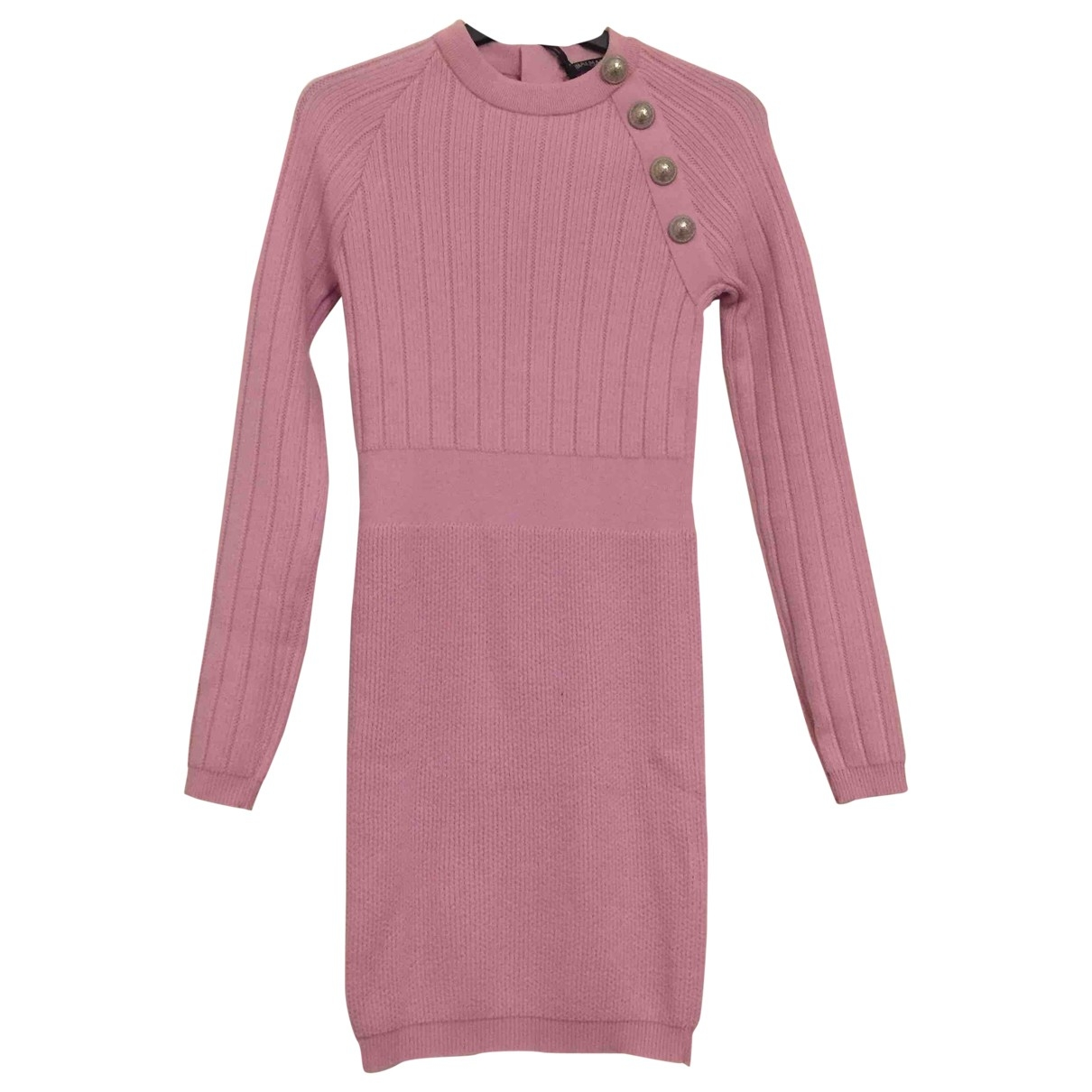 Balmain \N Kleid in  Lila Wolle