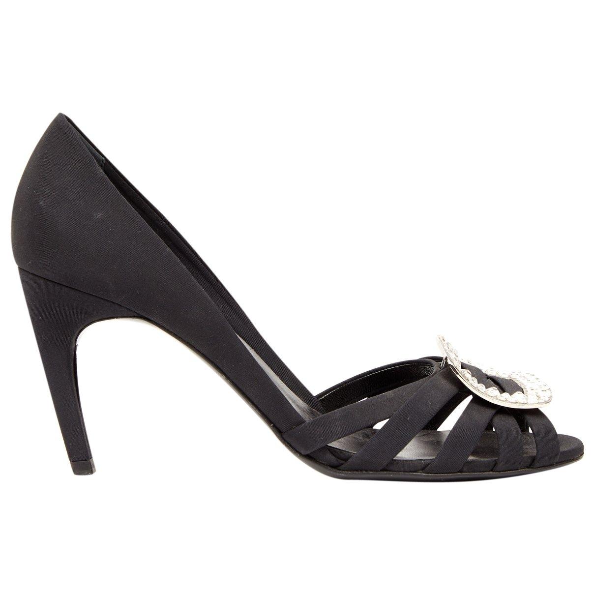 Roger Vivier \N Black Cloth Heels for Women 40 EU