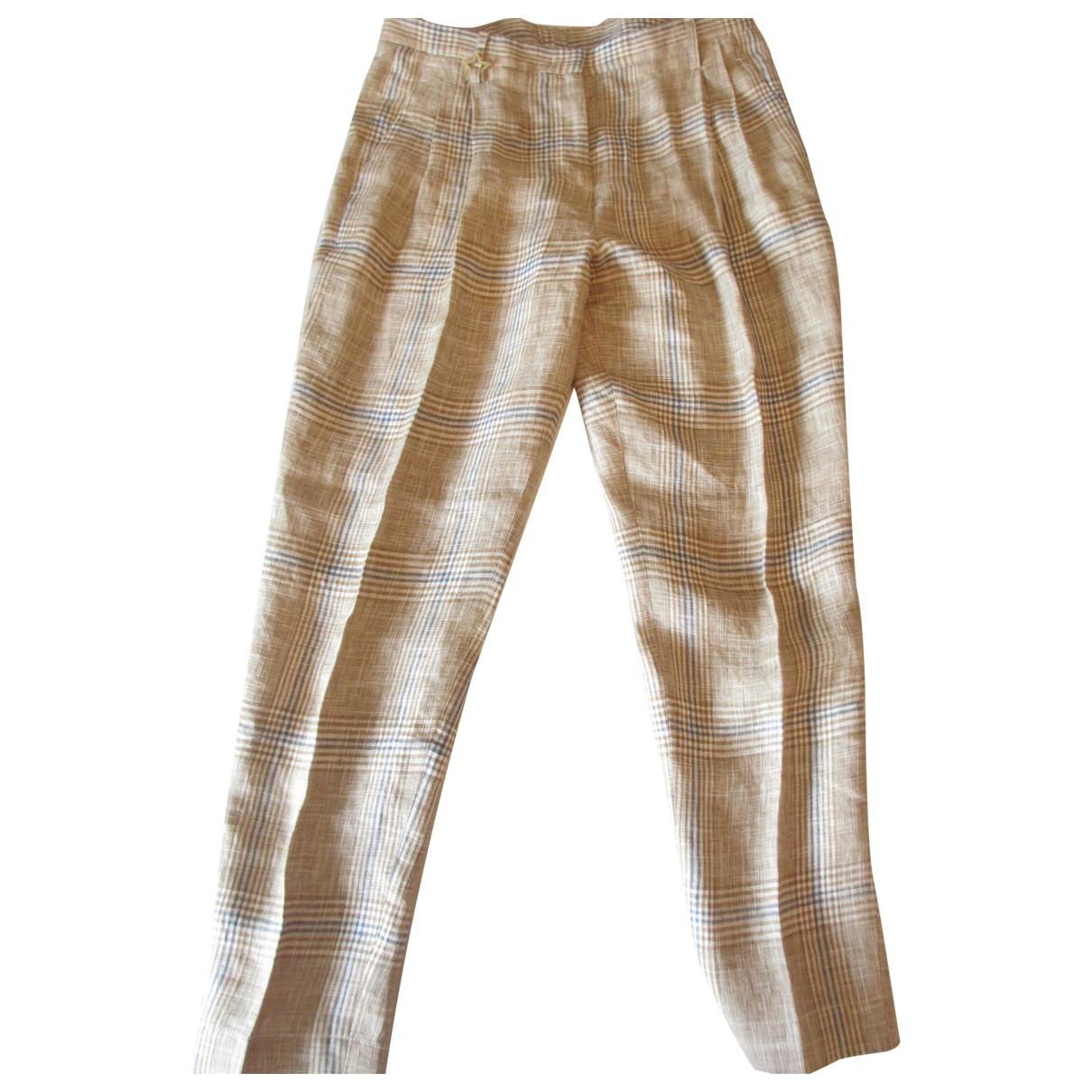 Lorena Antoniazzi \N Linen Trousers for Women 42 IT