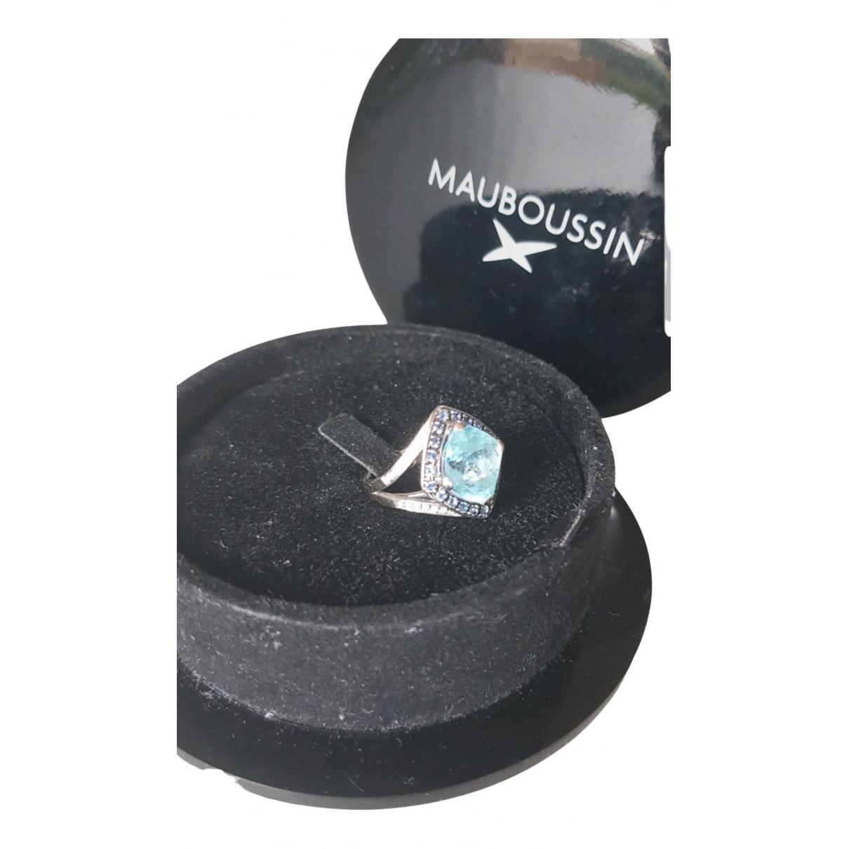 Mauboussin - Bague   pour femme en or blanc - bleu