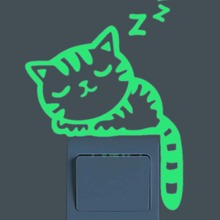 Pegatina de interruptor luminosa de gato