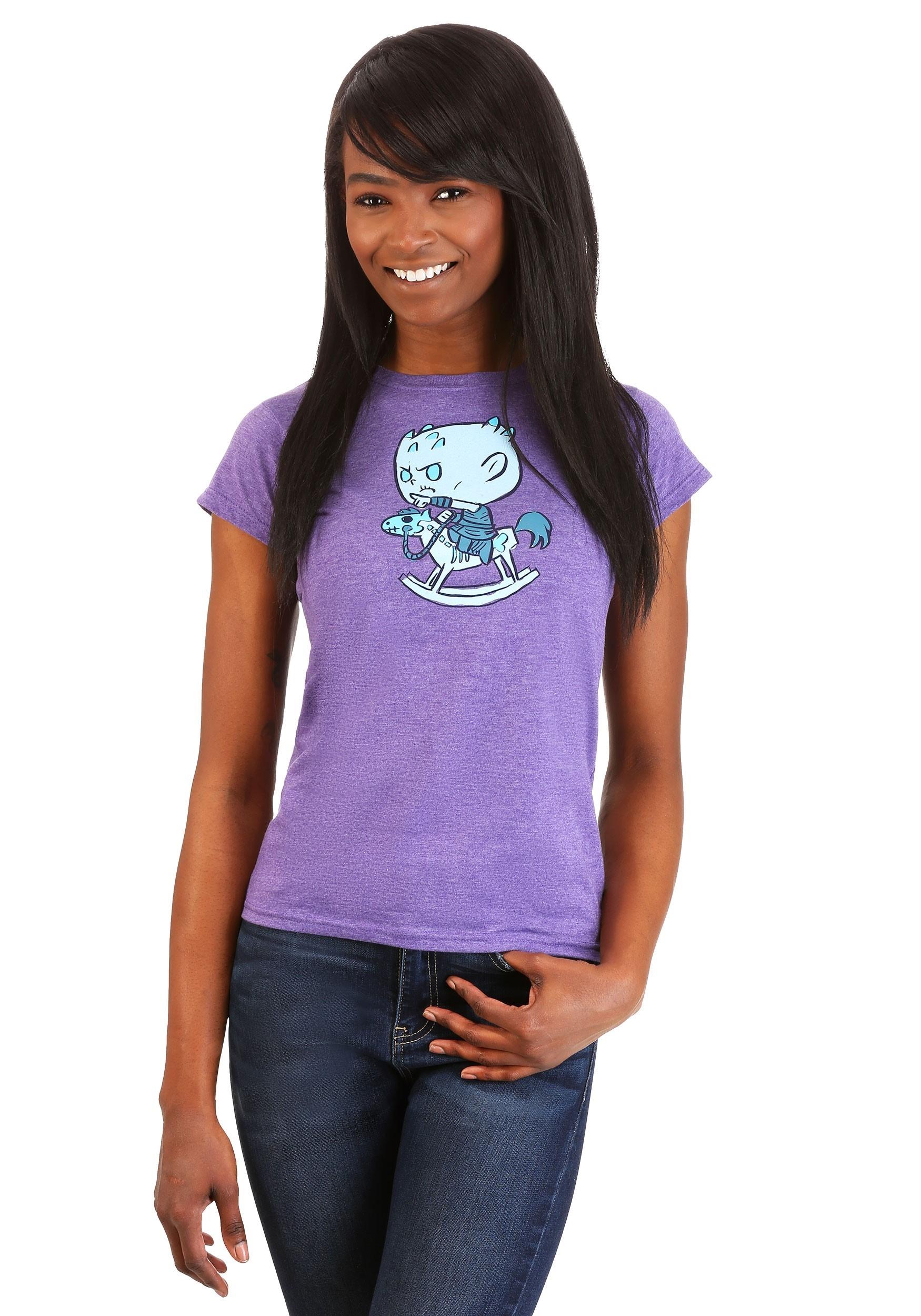Funko Super Cute Tees: Game of Thrones Night King Horsey Purple Women's T-Shirt